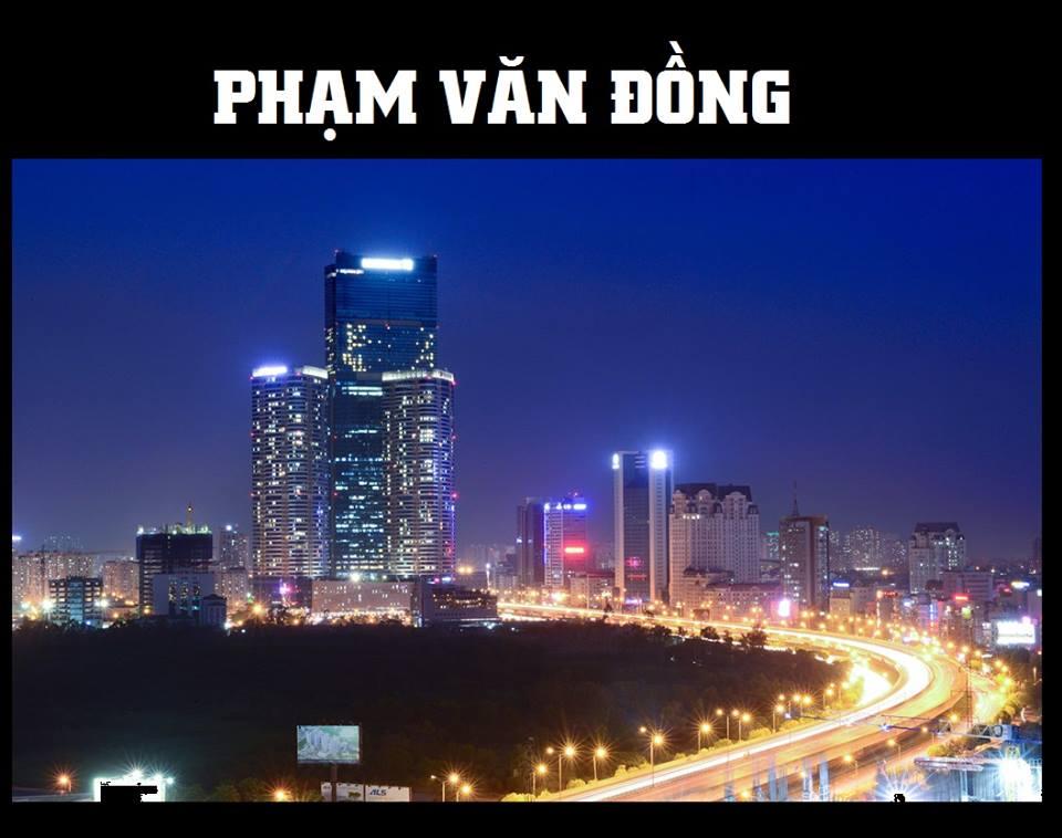 Đường Phạm Văn Đồng Hà Nội