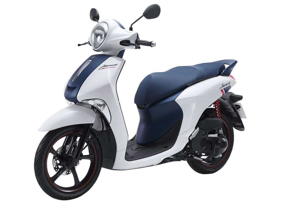 Xe Yamaha Janus phiên bản đặc biệt màu trắng tinh khôi