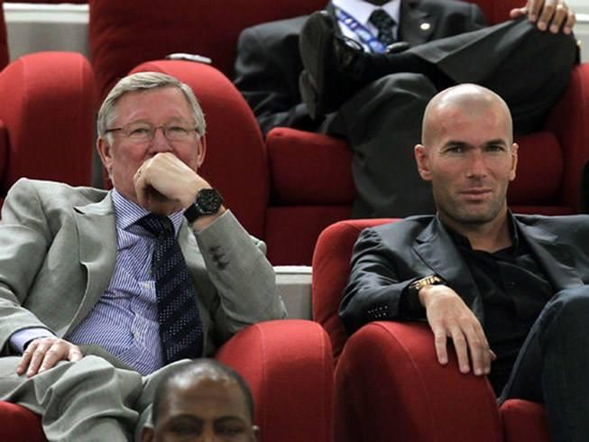 Zidane và Alex Ferguson