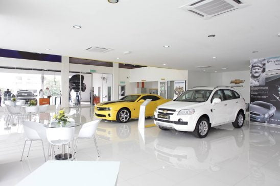 Showroom ô tô Chevrolet