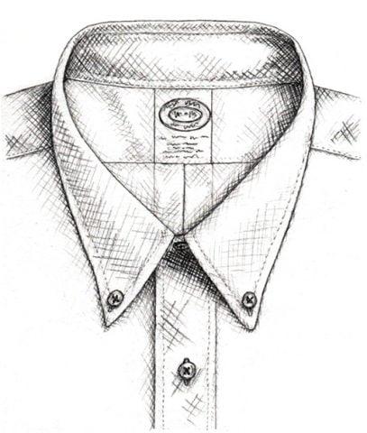 áo sơ mi button down là gì