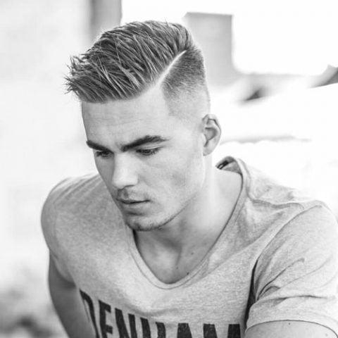 Kiểu tóc namSpiked Side Part với độ Fade cao cho mùa hè 2019