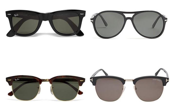 phụ kiện thời trang nam kính râm Aviators Wayfarers