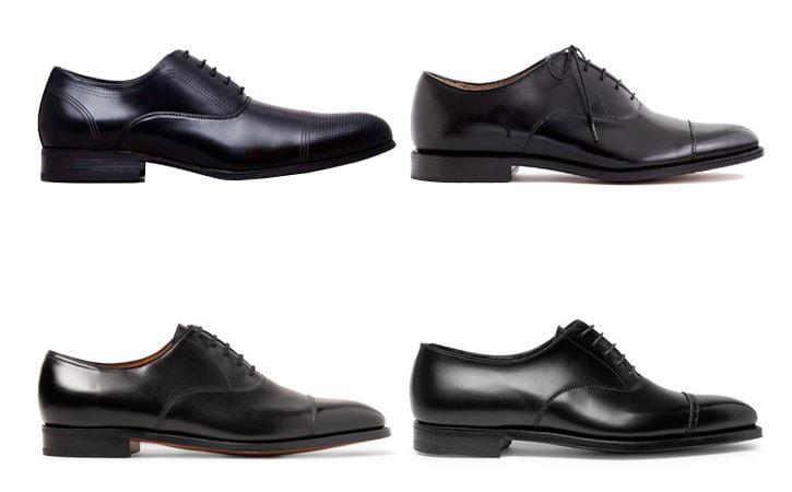 4 đôi giày đàn ông phải có giày oxford nam màu đen menback