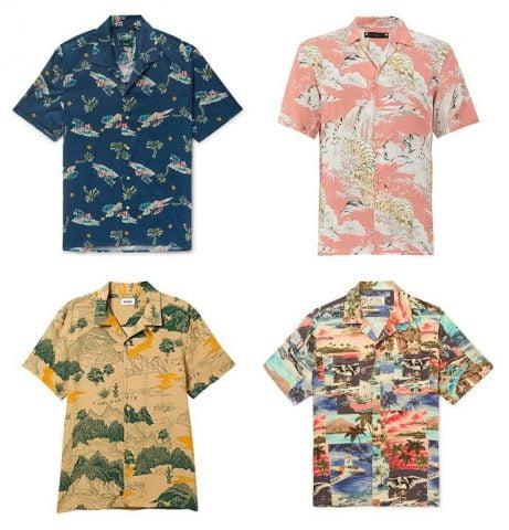 Áo sơ mi nam in họa tiết Hawaii & Nhật Bản