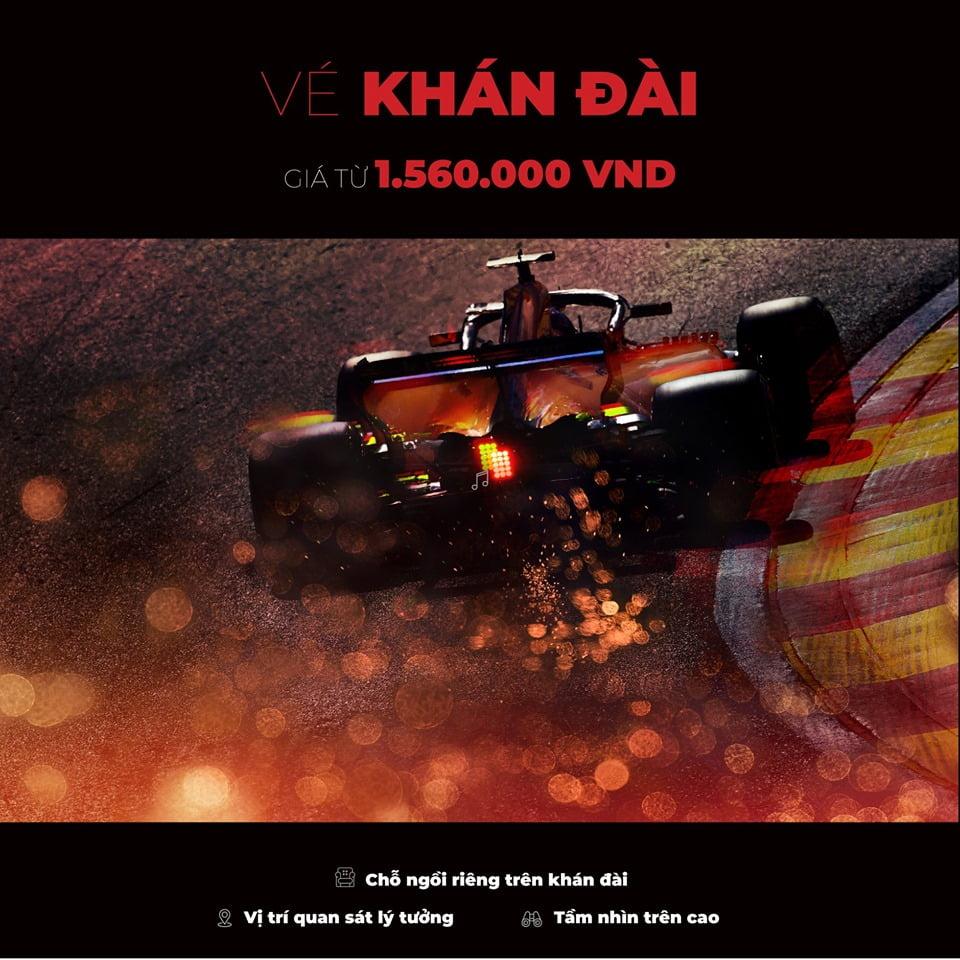 Mua vé xem F1 Vietnam Grand Prix 2020