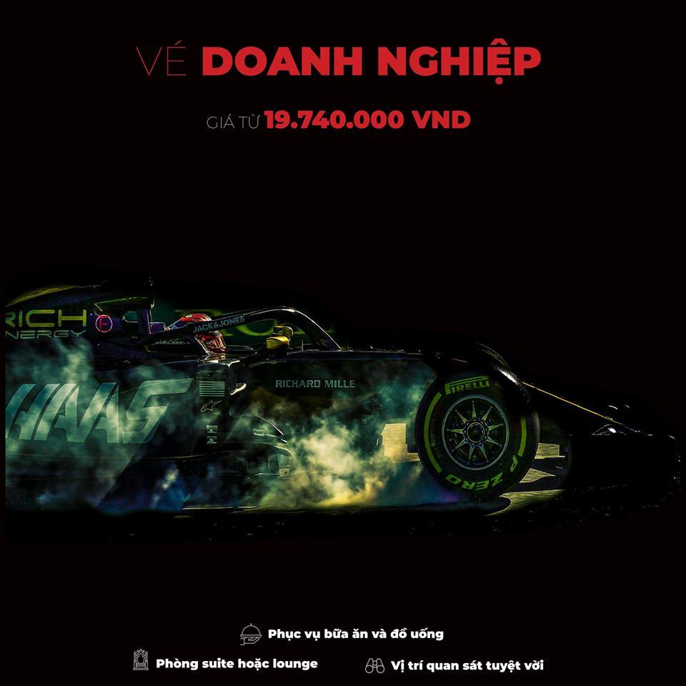 Vé doanh nghiệp xem F1 Vietnam Grand Prix 2020