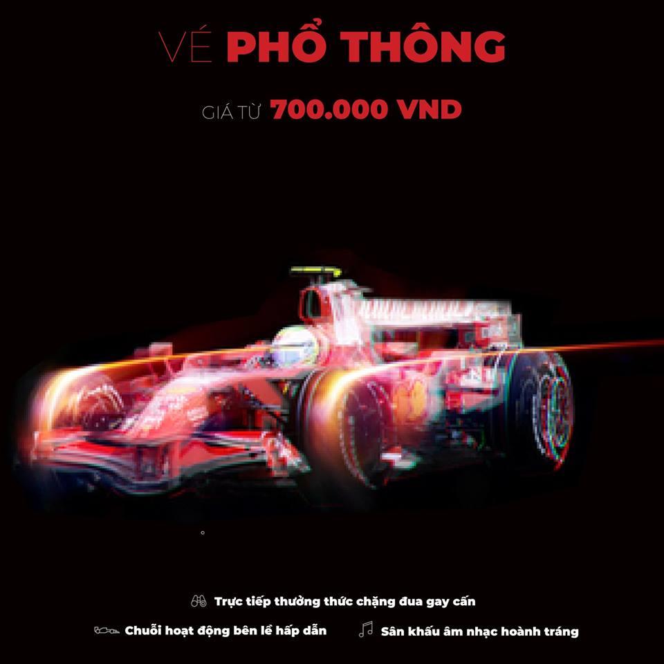 Vé phổ thông xem F1 Vietnam Grand Prix 2020