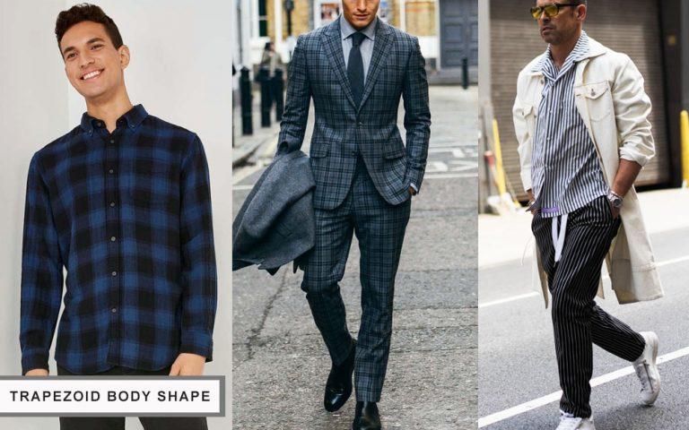 cách chọn quần áo cho nam giới có cơ thể hình thang