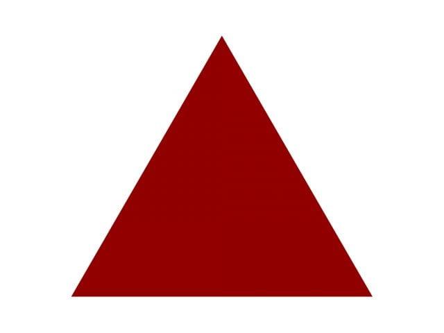 cơ thể có hình dáng tam giác