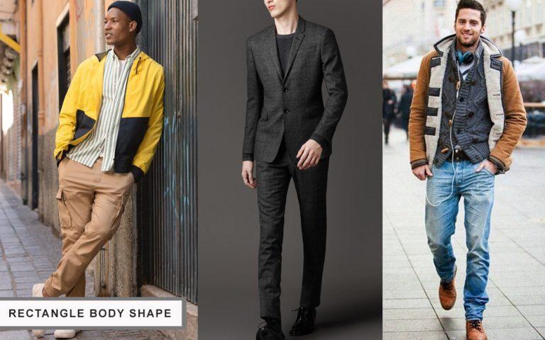 lựa chọn trang phục cho nam giới có cơ thể hình chữ nhật