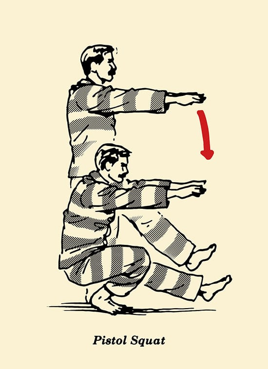 squat kiểu súng lục
