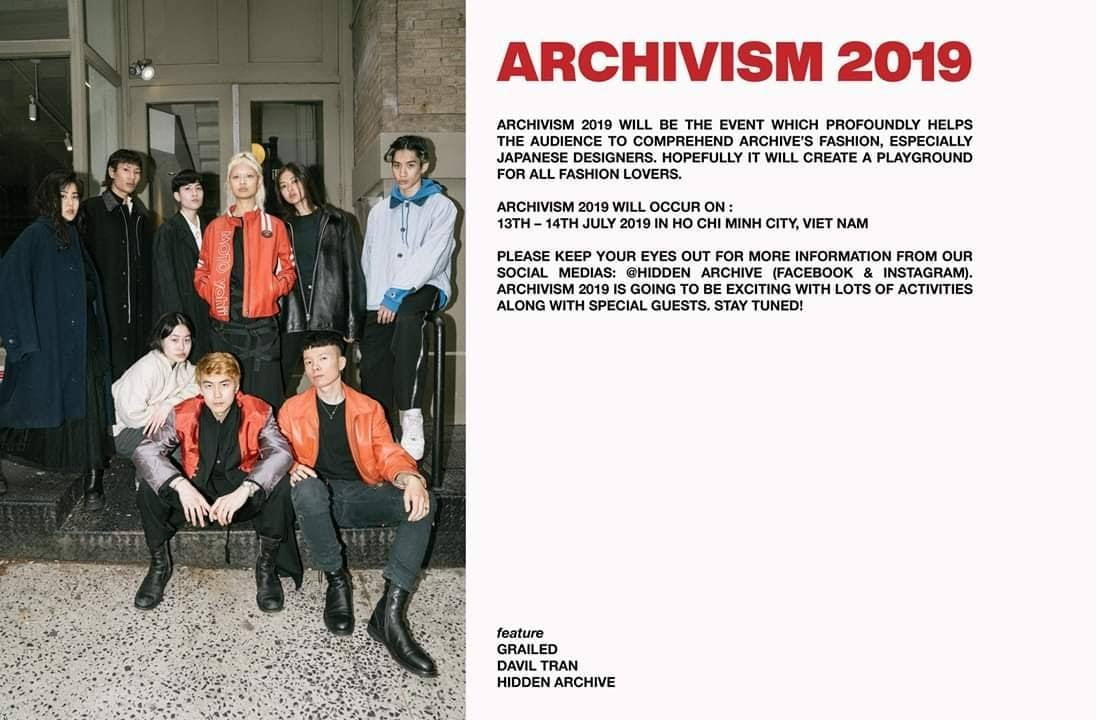 triển lãm thời trang ARCHIVISM 2019