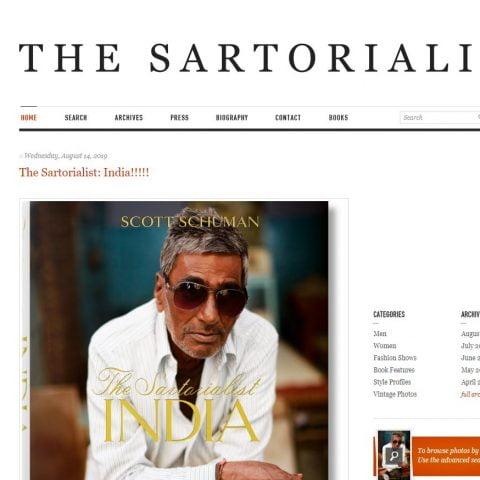 Website thời trang nam The Sartorialist của Scott Schuman