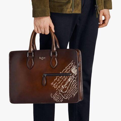Túi xách đẹp cho doanh nhân Berluti Scritto Briefcase