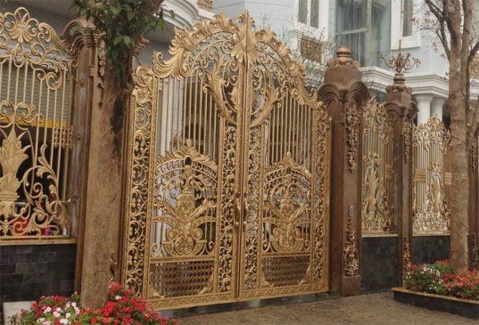 cổng sắt đẹp nhà cấp 4 (2)