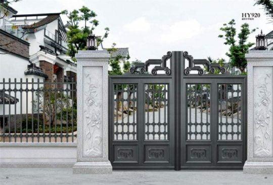 cổng sắt đẹp nhà mặt phố (1)