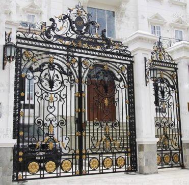cổng sắt đẹp nhà mặt phố (2)