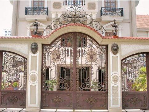 mẫu cổng sắt đẹp cho biệt thự (3)