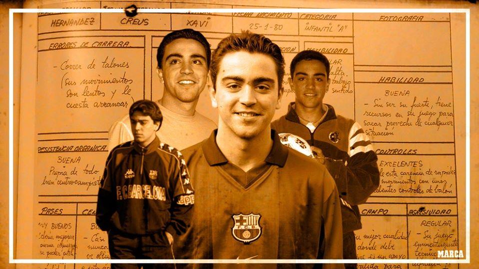 Bản báo cáo đánh giá cầu thủ về Xavi Hernandez ngày ở U14