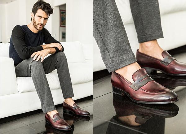 giầy loafer nam mặc với quần gì