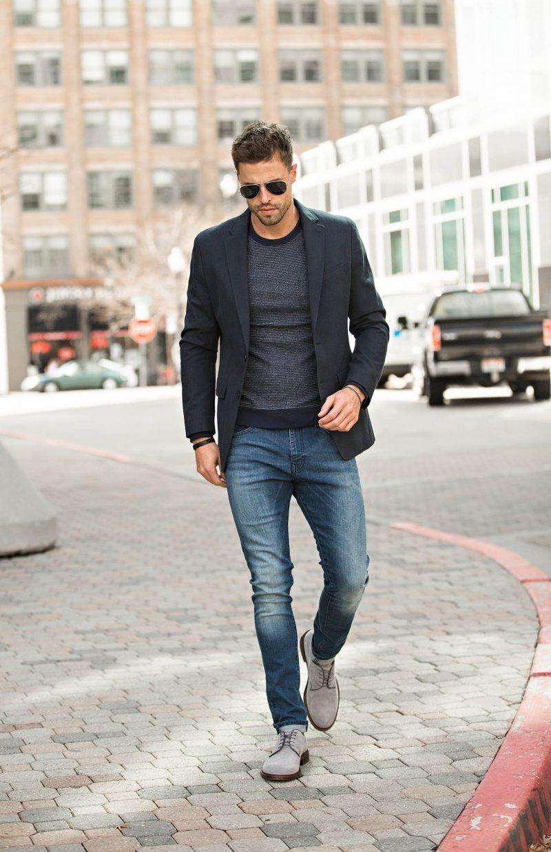 phối đồ với áo blazer nam