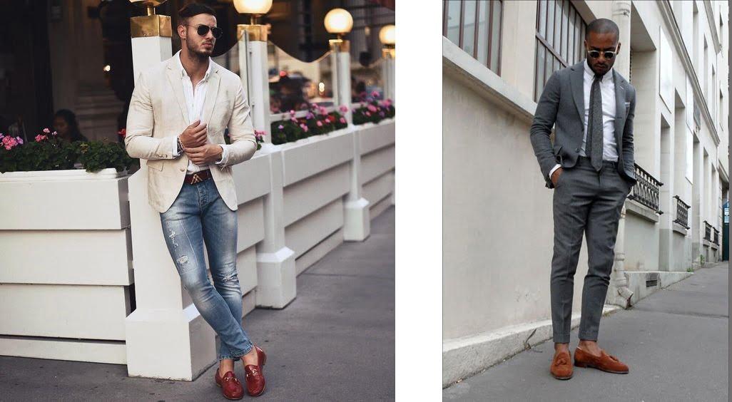 phối giầy loafer với quần jeans nam