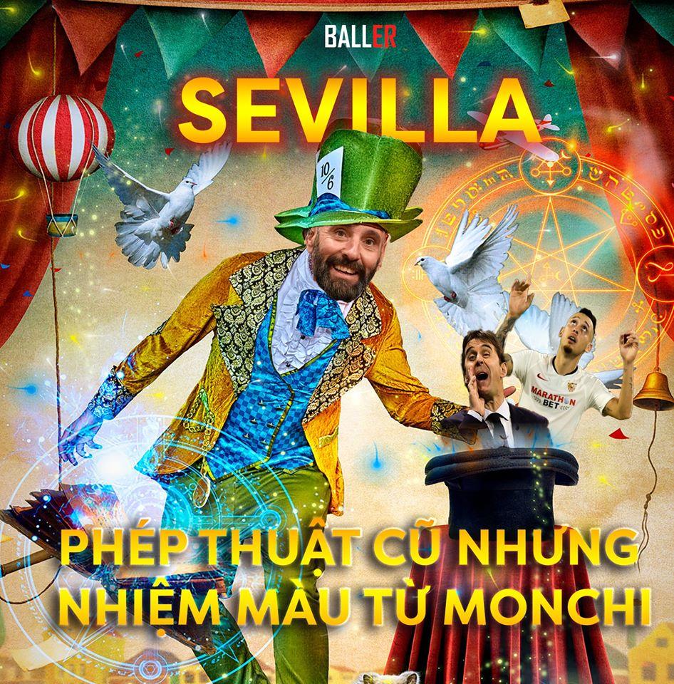 Sevilla bay cao nhờ vào phép thuật cũ của phù thủy Monchi