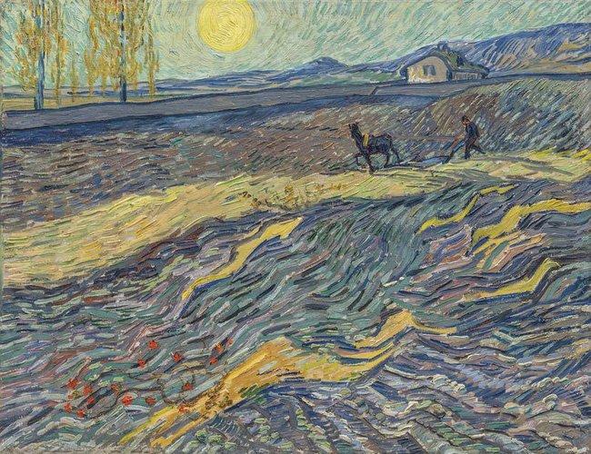 "Bức tranh ""Laboureur dans un champ"" của Van Gogh"