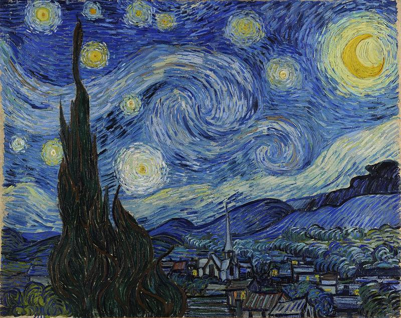 Bức tranh đêm đầy sao của Van Gogh
