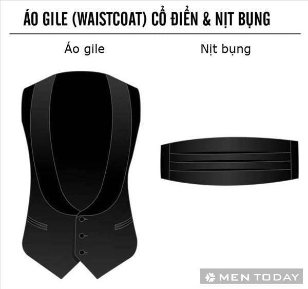 ao gile cho trang phuc black tie