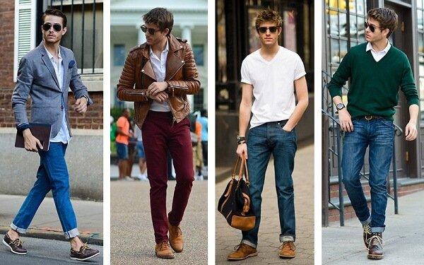 Giày Tây mix cùng quần Jeans
