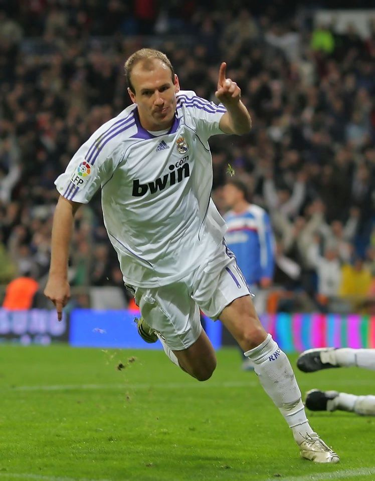 ARJEN ROBBEN REAL MADRID