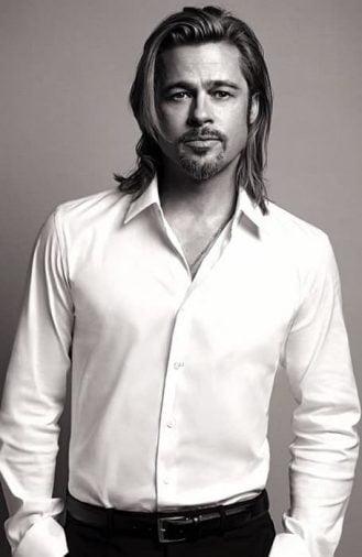 Kiểu tóc nam dài đẹp của tài tử Brad Pitt