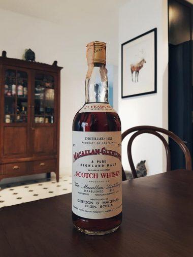 Macallan-Glenlivet 1952 25yo Sherry Wood 43.0% 75cl Gordon & MacPhail bottled for Co. Import Pinerolo Italia