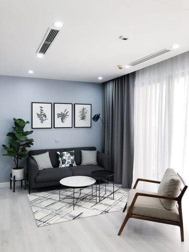 Nội thất căn hộ D'Capitale phong cách Scandinavian (Bắc Âu) kết hợp Minimalist (Tối giản) (1)