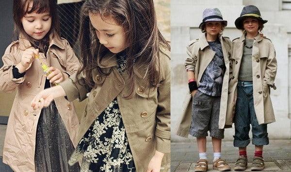 áo Trench-coat trẻ em