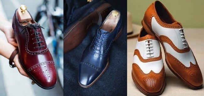 Các kiểu giày tây phổ biến