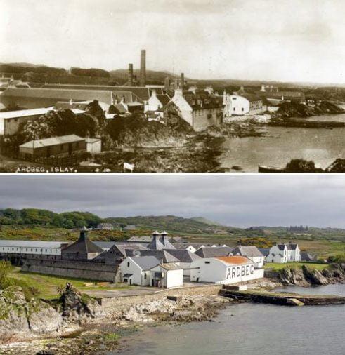 Ardbeg khoảng năm 1910 (ảnh trên) và 2006 (ảnh dưới).