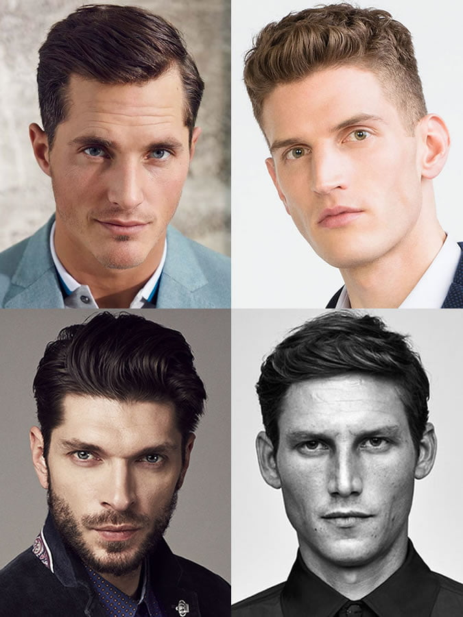 Các kiểu tóc cho với nam giới khuôn mặt trái xoan.