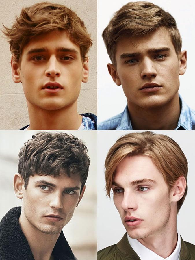 Kiểu tóc phù hợp cho nam giới gương mặt hình kim cương.