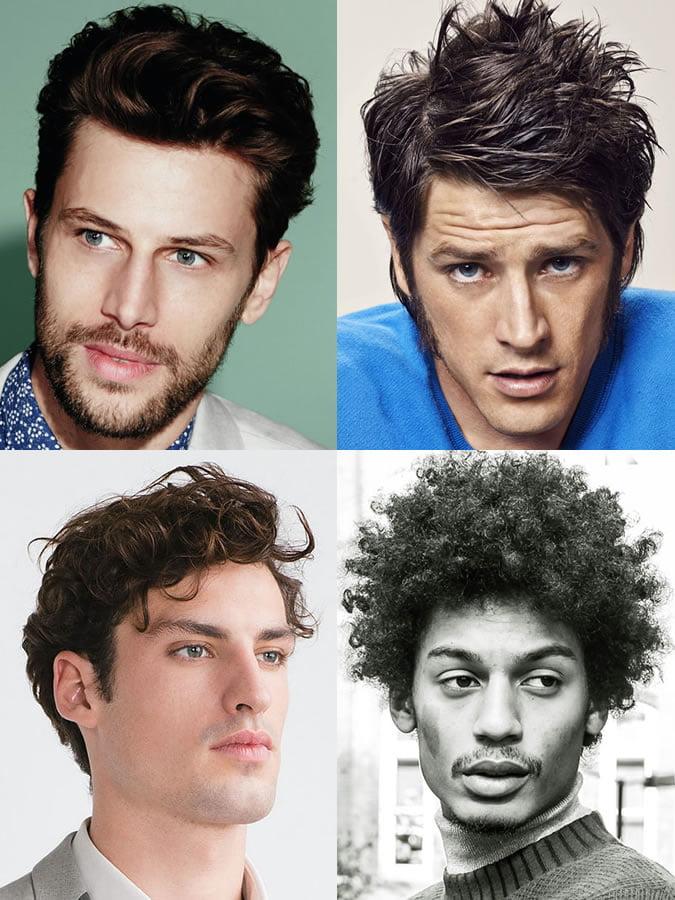 Kiểu tóc phù hợp với gương mặt hình tam giác nam.