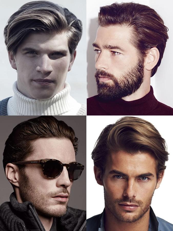 Kiểu tóc phù hợp gương mặt hình trái tim nam.