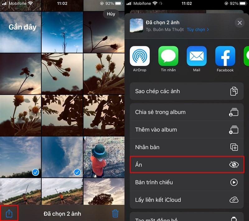 """Đôi khi có những điều thầm kín hoặc bí mật không muốn ai nhìn thấy trong album ảnh nhưng không biết làm cách nào để chuyển từ chế độ công khai sang riêng tư. Vậy bài viết dưới đây sẽ hướng dẫn bạn chi tiết cách chuyển ảnh và video sang chế độ cá nhân mà không cần thêm một ứng dụng thứ ba nào nữa. Bước 1: Vào """"Album ảnh"""" của iPhone. Bước 2: Lựa chọn ảnh hoặc video cần ảnh rồi ấn nút share ở góc bên trái, chọn """"Ẩn"""". Bước 3: Vào """"Bị ẩn"""" để xem lại ảnh và video bạn đã chọn ẩn. Giờ đây, những ảnh và video bạn chọn ẩn sẽ được cài đặt ở một thư mục riêng, hạn chế việc người khác xem và biết đến những thông tin riêng tư của bạn. Bước 4: Nếu muốn khôi phục ảnh hoặc video trở lại, bạn lựa chọn ảnh và video cần khôi phục rồi nhấn nút """"Chia sẻ"""" => """"Hiện"""". 2. Cách ẩn ảnh và video bằng ứng dụng Ghi chú Bước 1: Tạo mới một ghi chú trong ứng dụng, chọn Máy ảnh => Chọn ảnh hoặc video. Bước 2: Chọn ảnh và video, xong bạn nhấn Thêm. Chúng sẽ xuất hiện tự động trong ghi chú. Bước 3: Để khóa, bạn chọn Dấu ba chấm => Khóa => Đặt mật khẩu. Có thể dùng thêm Touch ID hoặc Face ID. Hoàn tất, bạn nhấn Xong. Giờ đây, bạn cần phải nhập mật khẩu hoặc Touch ID và Face ID mới có thể xem được ghi chú đó."""