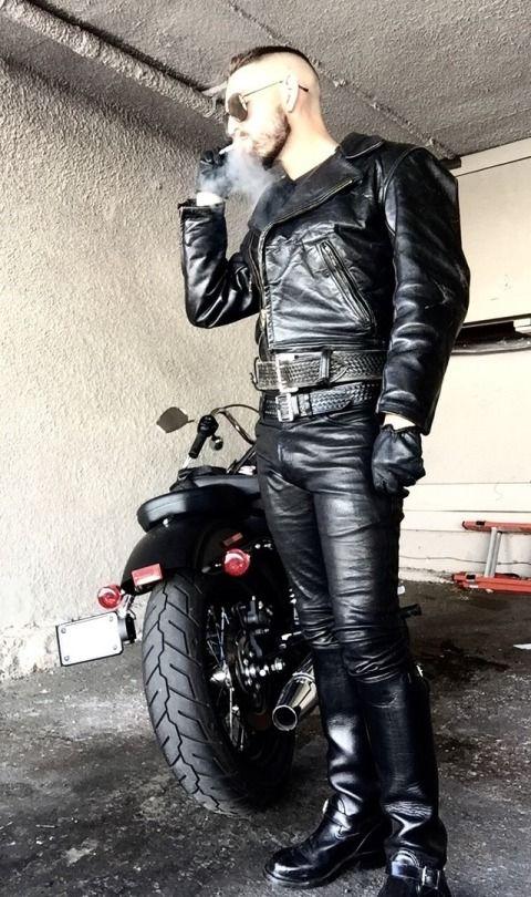 ao khoac da biker nam dep