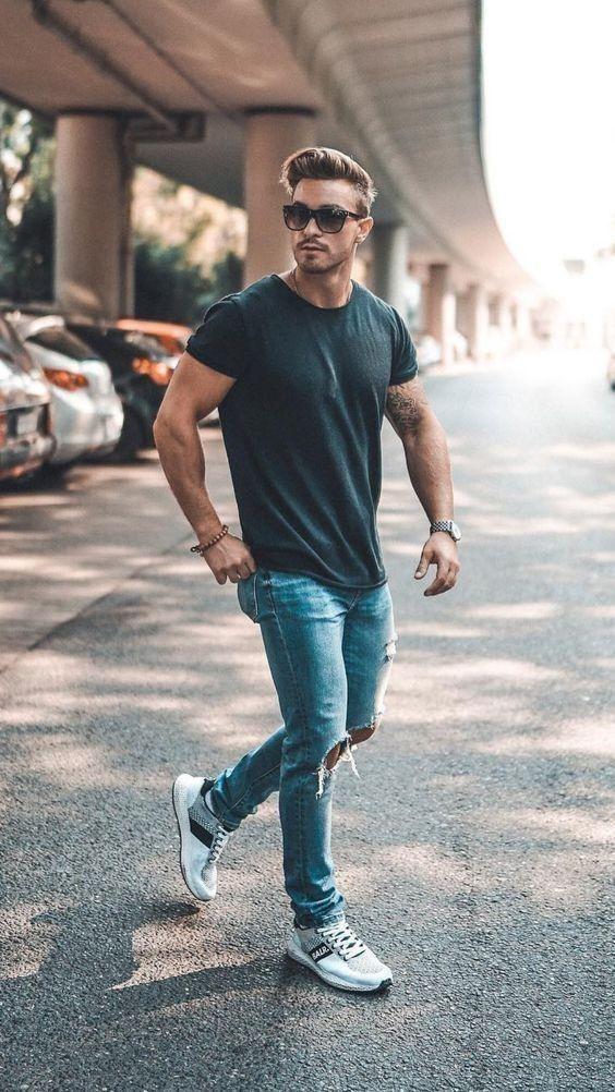 phoi giay voi quan jeans