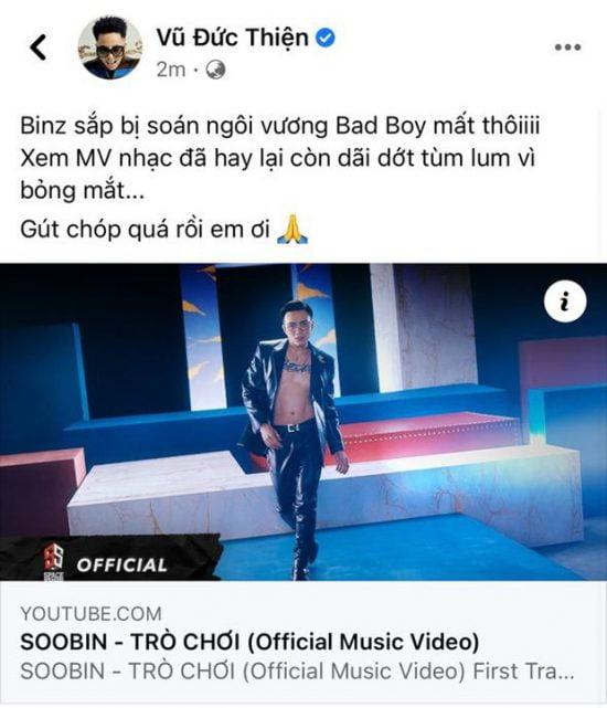 Soobin Hoàng Sơn ra mắt MV Trò chơi tạo hình bad boy mới (4)