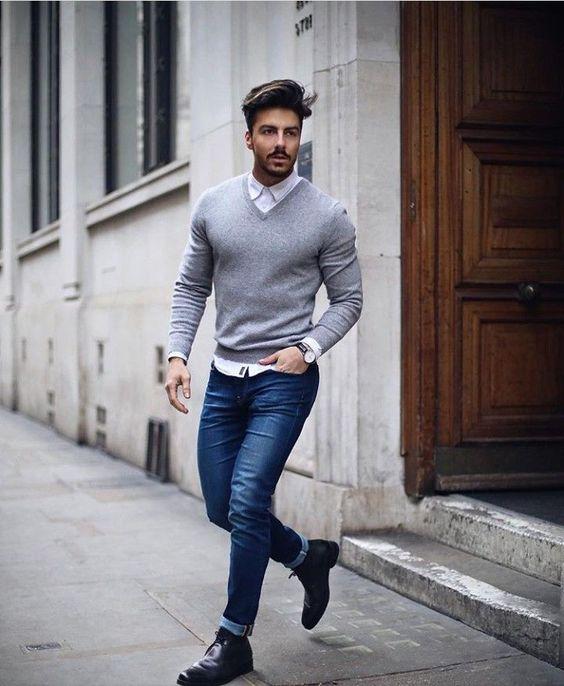 quan jeans nam mau xanh
