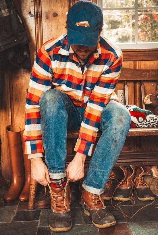 Áo flannel phối với quần gì