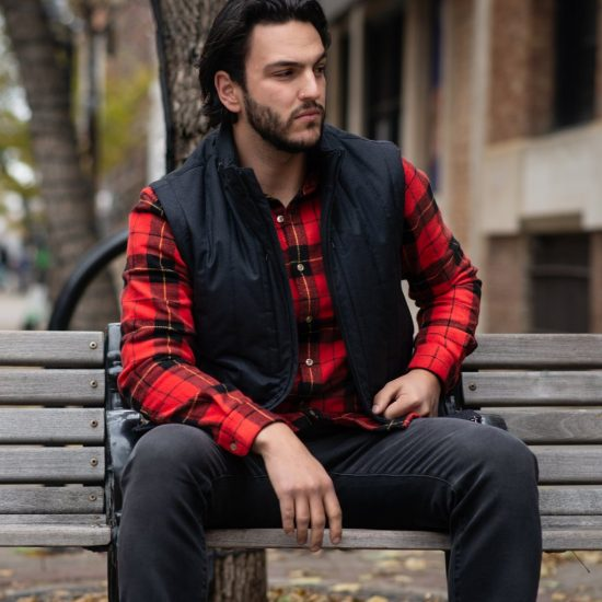 flannel layering men outfit